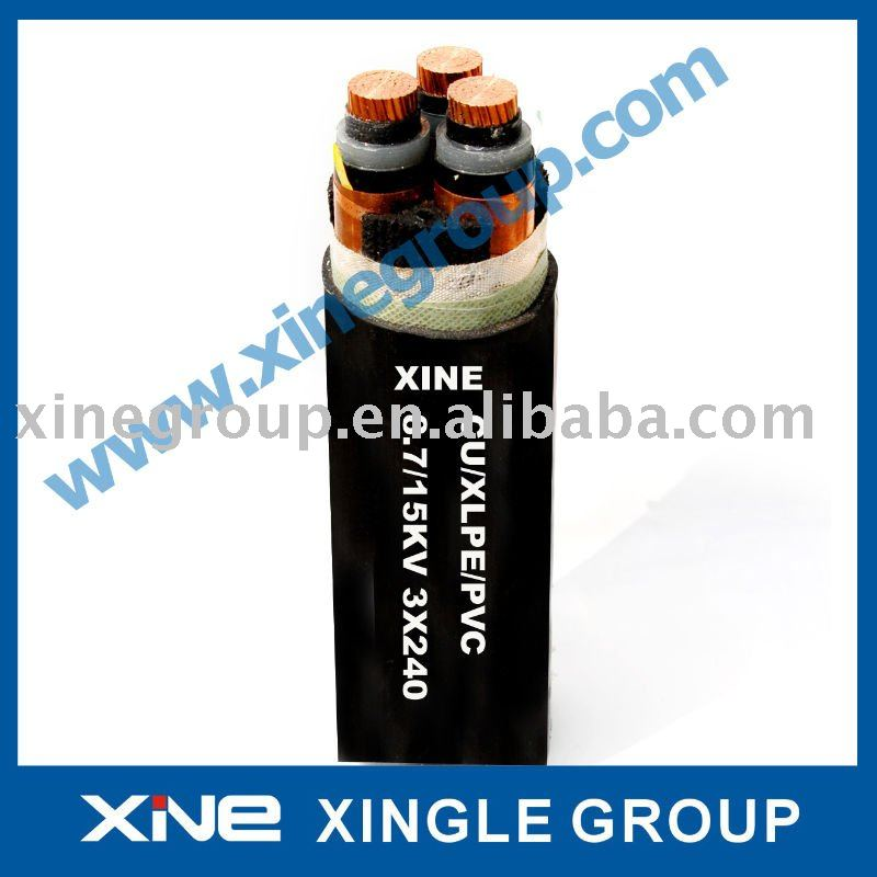 XLPE Insulation High Voltage Cable PVC sheathed Power Cable MV cable