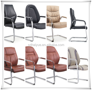 Classical leather leisure office chair without wheels conference chair executive chair