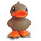 B.Duck promotional custom design ECO-friendly pvc cute brown plastic money box
