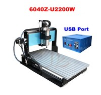 Newest LY 6040 CNC router 6040Z-U2200W cnc milling machine, 6040 cnc router with VFD water cooling ,big power 6040 cnc router