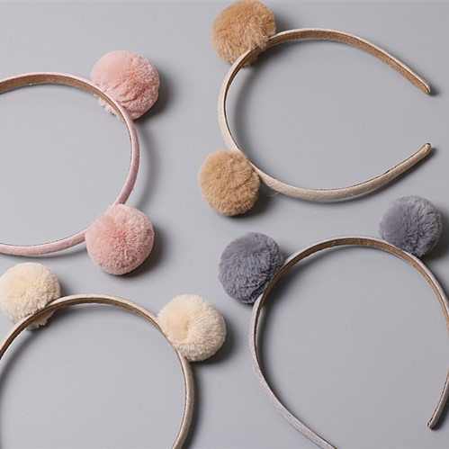 Girls Hairbands with Pompom Lovely Hair Hoop Princess Baby Headband for Party Hair Accessories