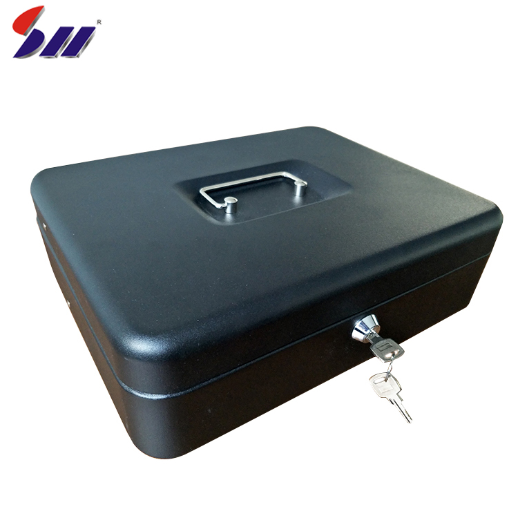 Factory supply custom cold rolling steel money box with handle