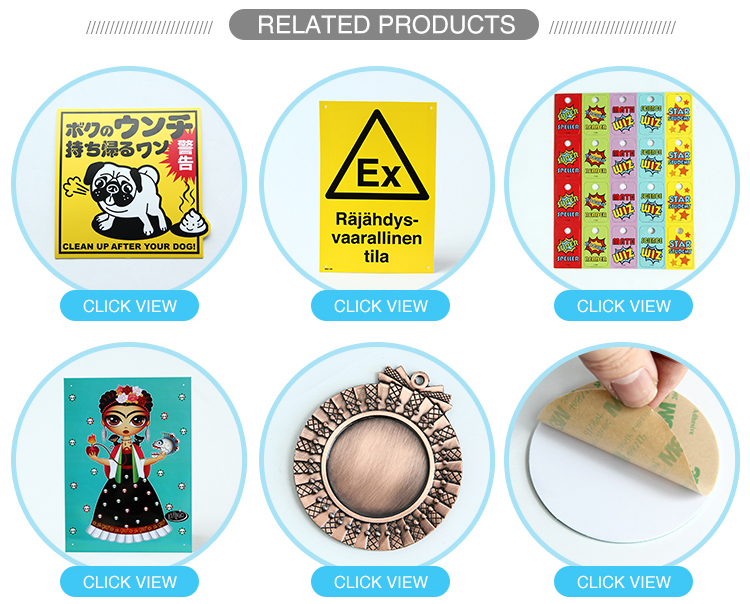 New product exquisite workmanship adhesive Sticker abs label