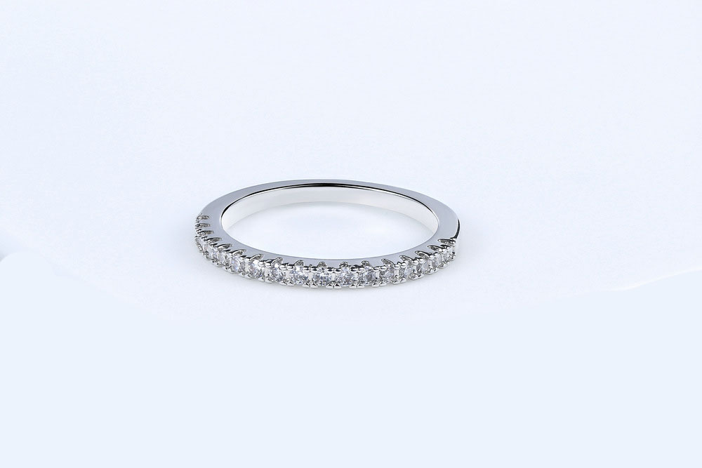 Top Finger Ring Gold /silver Color Single row  Cubic Zircon  Ring Fashion Jewelry Wholesale
