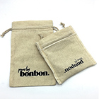 bracelet container flat gift bag organic cotton packaging cloth pouch