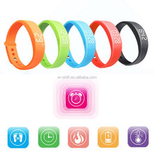 Hot Sale Colorful Women's Men's Silicone Smart Wrist Watch Pedometer W5 Steps Counter Calories Tracing Sports Bracelet