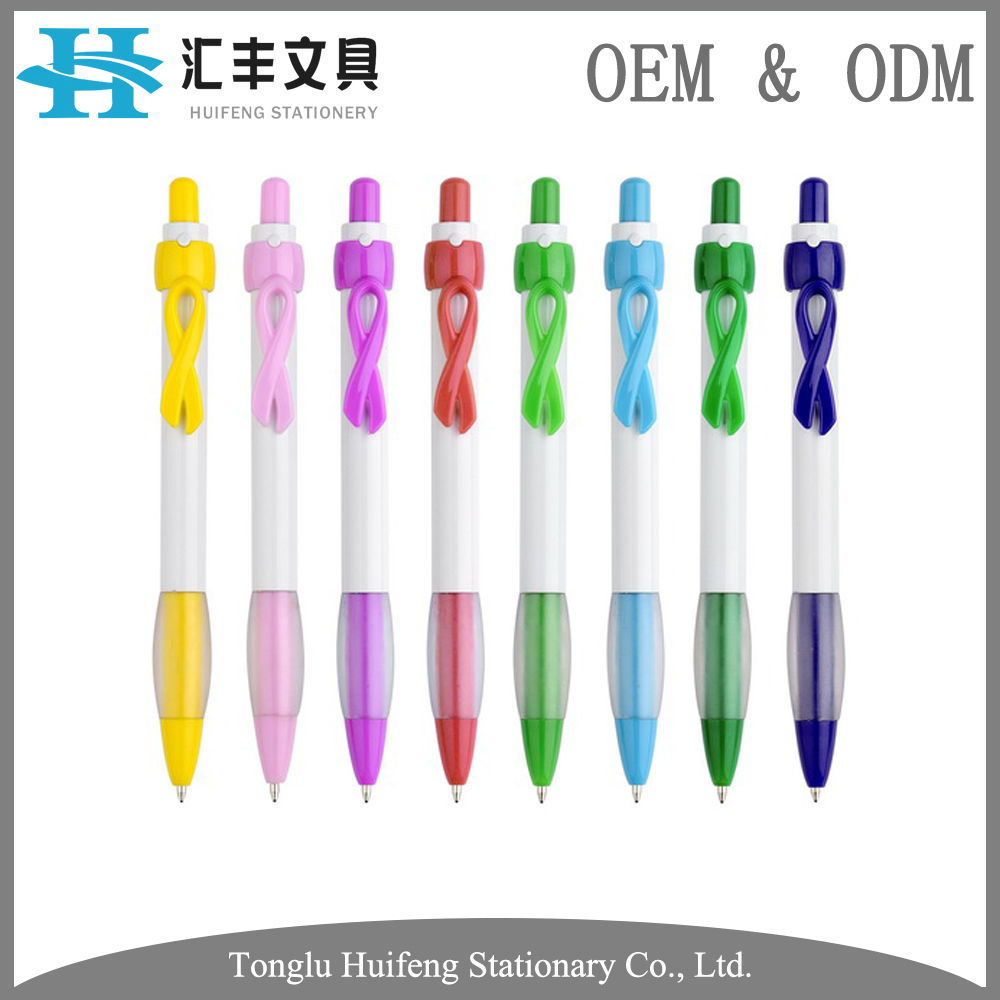 HF5209 OEM best quality plastic beautiful ball pen for promotional stationery school supplies