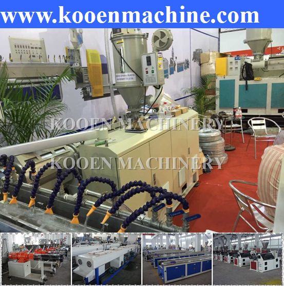 pvc fiber enhanced soft pipe production line