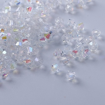 U PICK Colors 4mm crystal glass beads Loose beads for jewelry making bicone beads