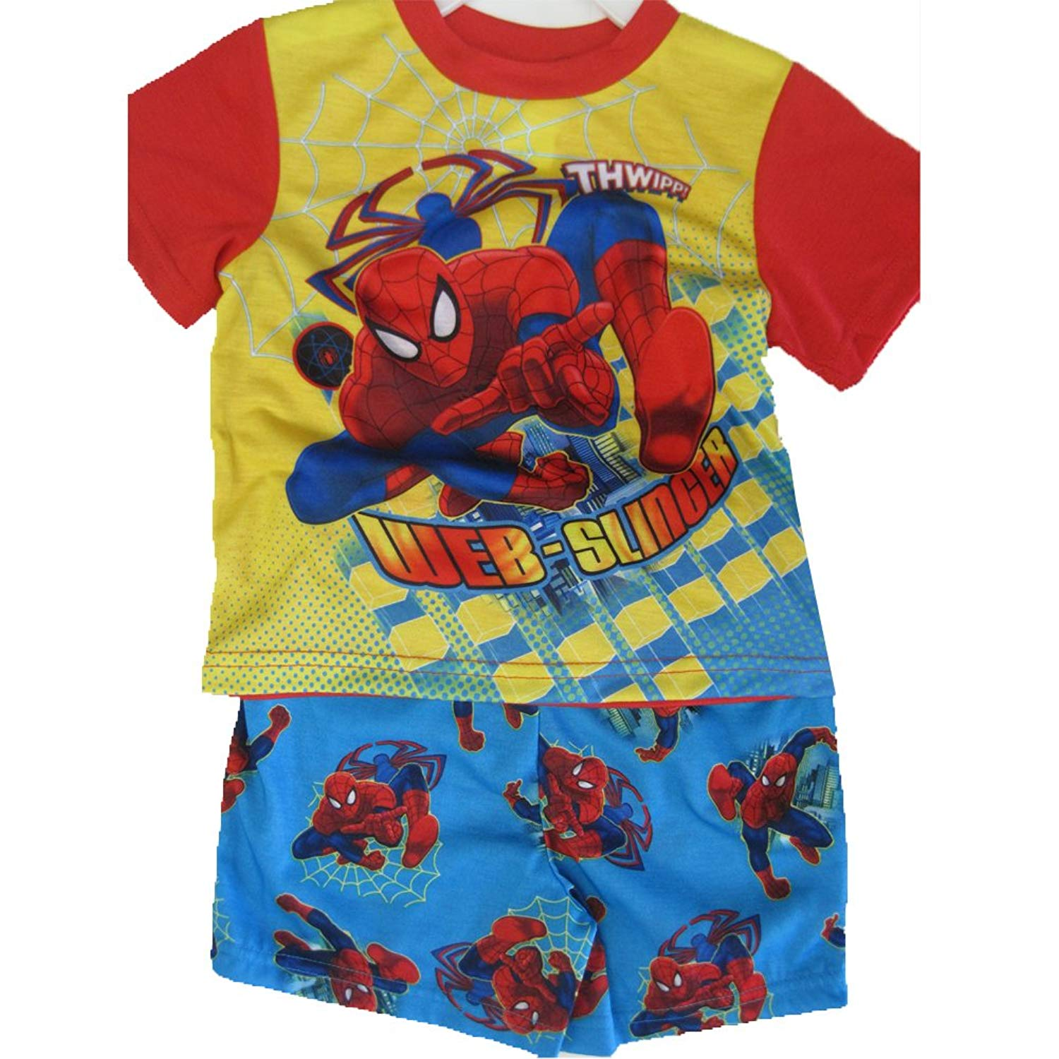 Get Quotations · Spiderman Little Boys Sky Blue Superhero Cartoon Inspired  2 Pc Shorts Set 2T-4T e97131561