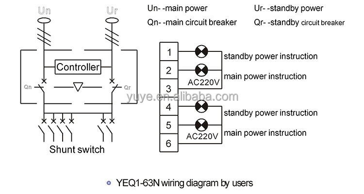 yeq1 63n 3 phase automatic transfer switch automatic transfer yeq1 series ats wiring diagram yeq1 63n 3 phase automatic transfer switch automatic transfer switch mini