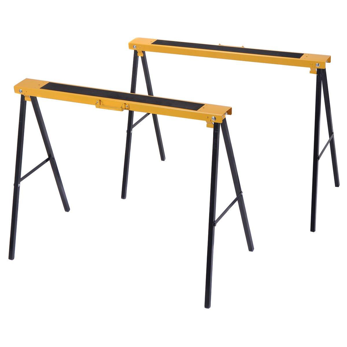 Metal sawhorse legs golf r mats