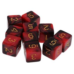 custom good quality acrylic mixed colors game dice
