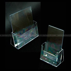 Single Pocket Acrylic A4 Leaflet Dispensers, Clear Trifold Brochure Stands
