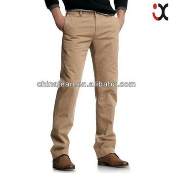 6b55bd5edb Barato de moda Pantalones de color caqui Venta caliente de los hombres de color  caqui Pantalones