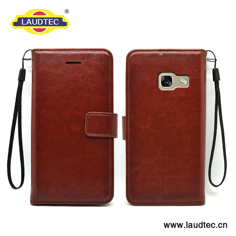 Luxury Skin PU leather case for Samsung A5 2017 mobile phone cover for A5 2017 ------- Laudtec