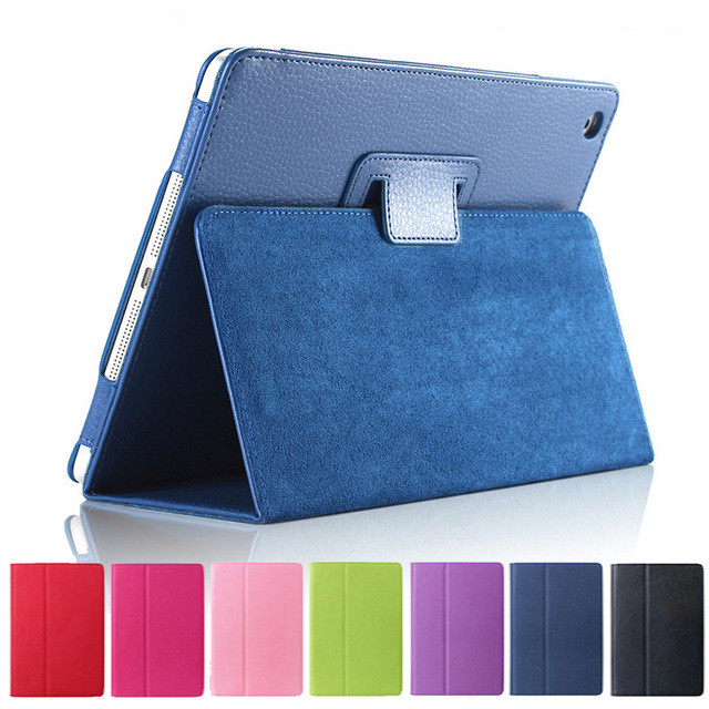 For ipad Mini Case Matte Soft Flip Litchi PU Leather Mini Coque Cover Smart Stand Auto Sleep /Wake UP Style