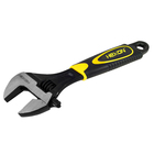 Customized high quality carbon forged steel adjustable wrench with PVC handle