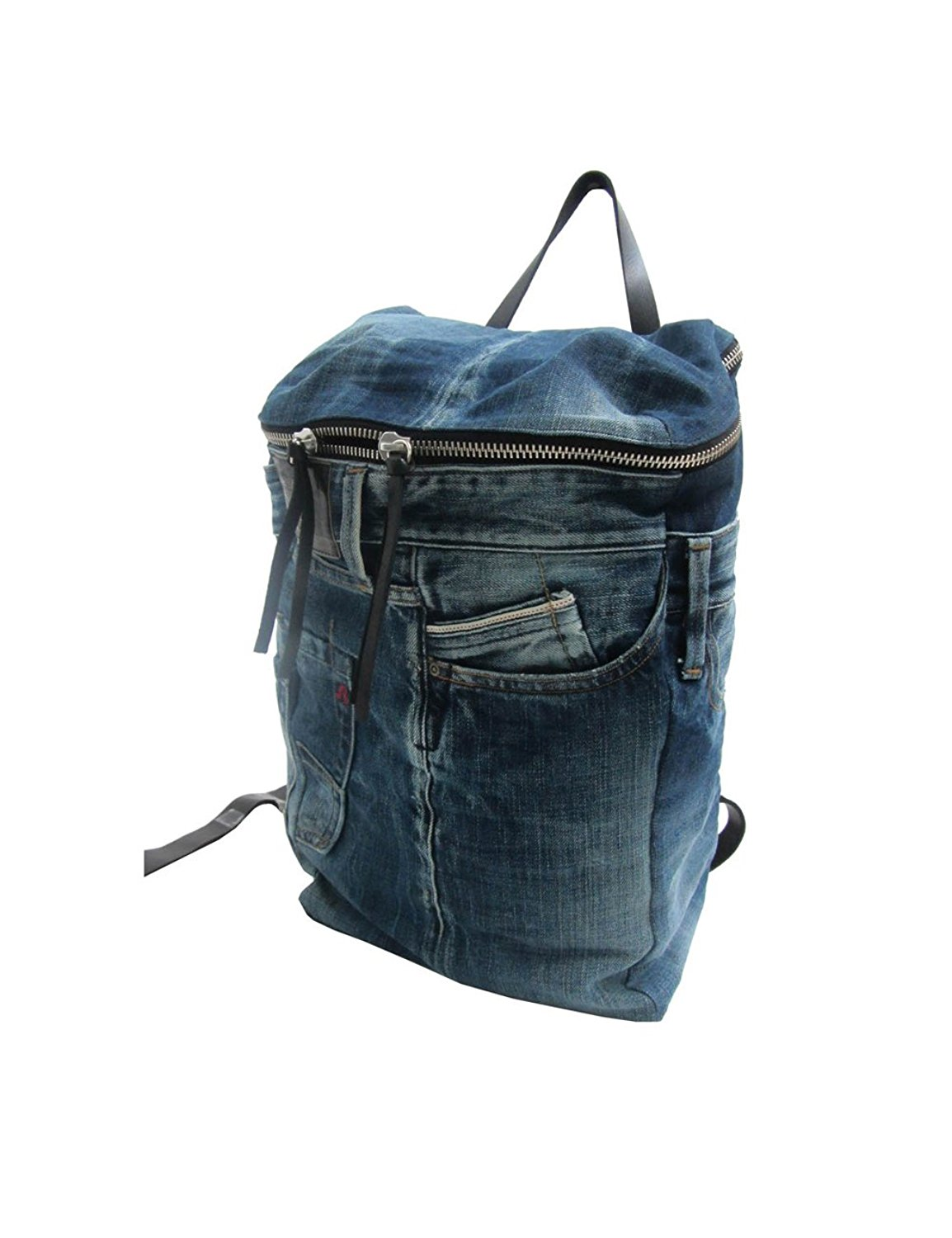 c117dbc37d83 Get Quotations · Replay Unisex Unisex Blue Denim Backpack 100% Cotton