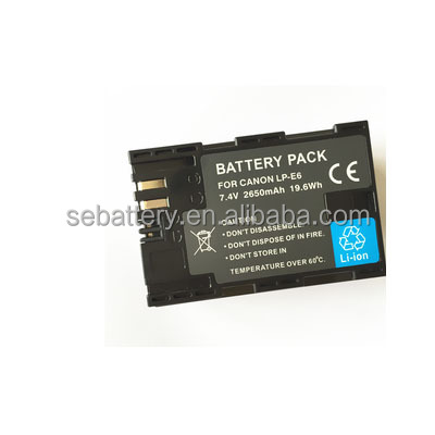 LP-E6 LP E6 LP-E6N LPE6N Battery for CAN 70D 5D Mark II 80D 7D Mark II 60D 6D 7D BG-E14 BG-E13 BG-E11 BG-E9 BG-E7 BG-E6 Camera
