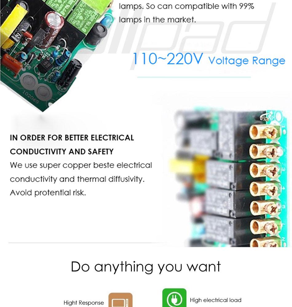 2 Way Remote Switch Gang Triple Dimmer Light 250w 3g2w Push On Off Ebay Curtain Wallpad Black Glass Wireless