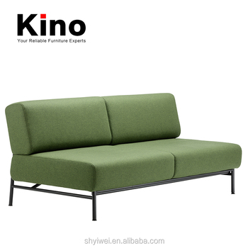 Metal Frame Base Legs Two Seats Fabric Cushion Sofa Chair Modern Office  Loveseat Living Room Sofa