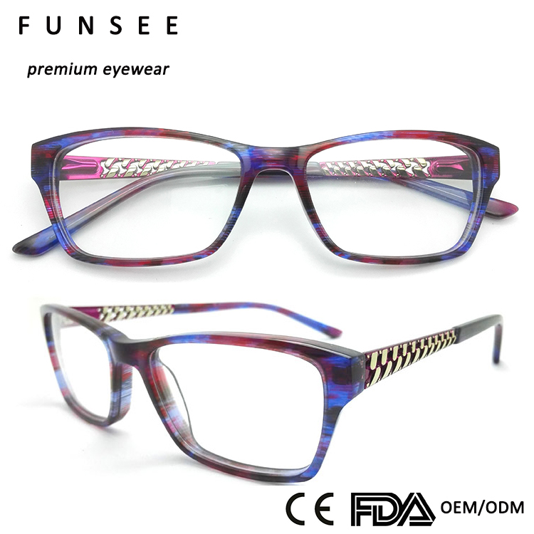 Top quality square acetate frame wholesale eywear in china