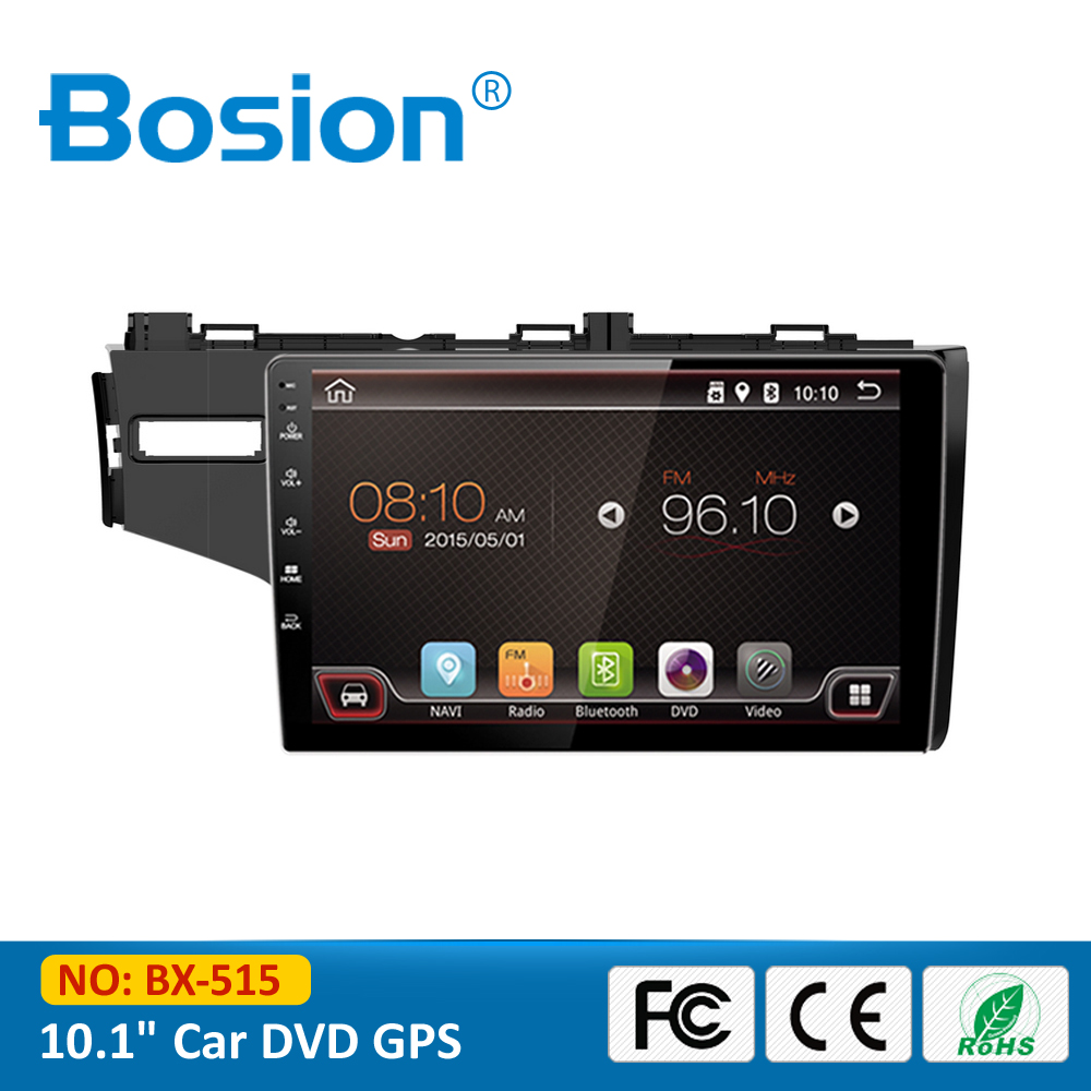 China 2 Din 10.1 inch Touch Screen Android 4.4.4 DVD GPS Car Radio for FIT with RDS Reversing Camera Mirror Link OBD 3G Wifi