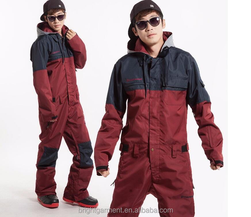 New design Cool Mens's high quality warm waterproof winter adults ski and snowboard one piece suit