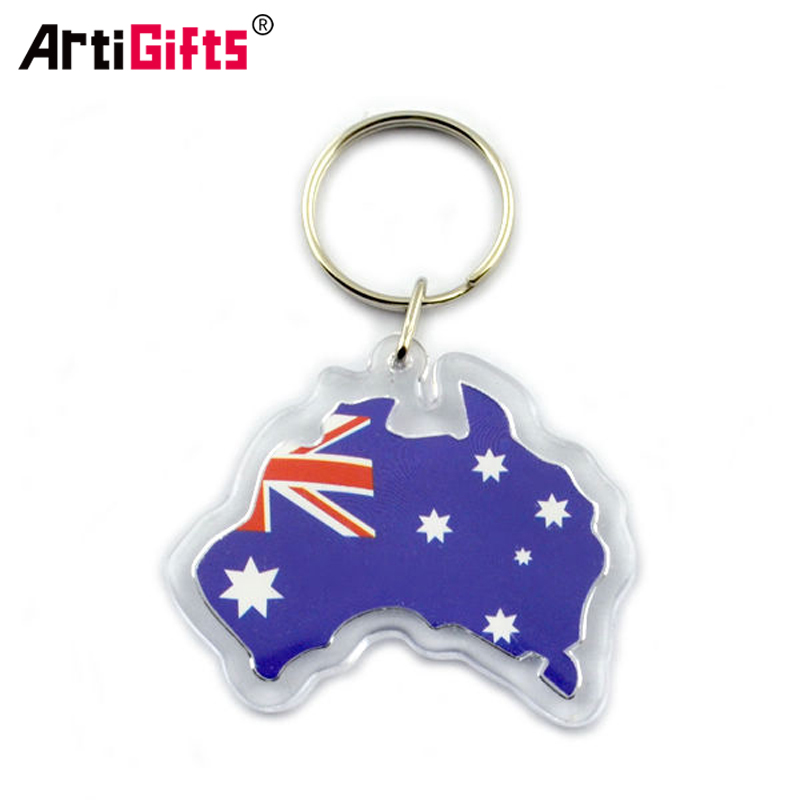Wholesale Keyring Maker Make Your Own Transparent Blank Printed Anime Photo Custom Clear Acrylic Key Ring Chain Keychain