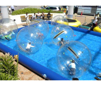 Inflable Zorb Bola Inflable Plastico Azul Rectangular Piscina