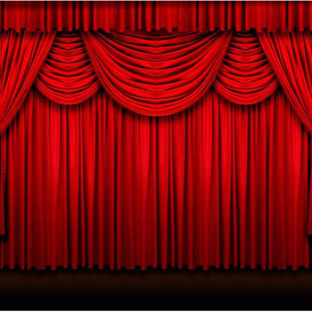 Motorized Decorative Red Theatre Flame Retardant Stage