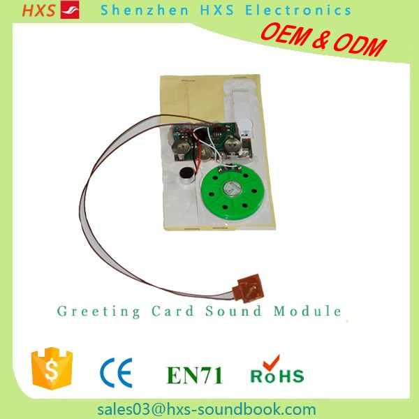 Manufactory Custom Electronic Greeting Card Sound Chip
