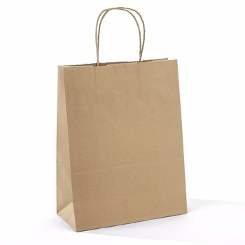 Brown Kraft Paper Bags - Gift bags with Handles, Shopping Durable Reusable Merchandise Retail Bags