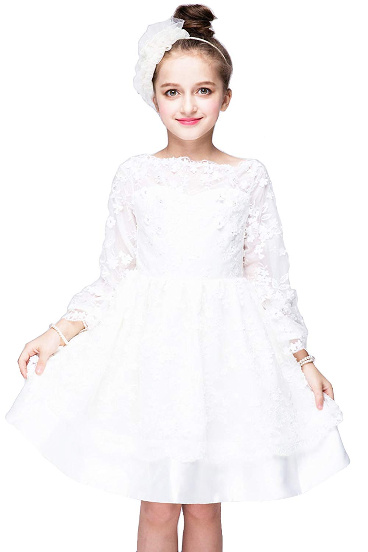 YMING Girls Flower Princess Dress for Birthday Party Prom Tutu Tulle Dress Weeding Dress