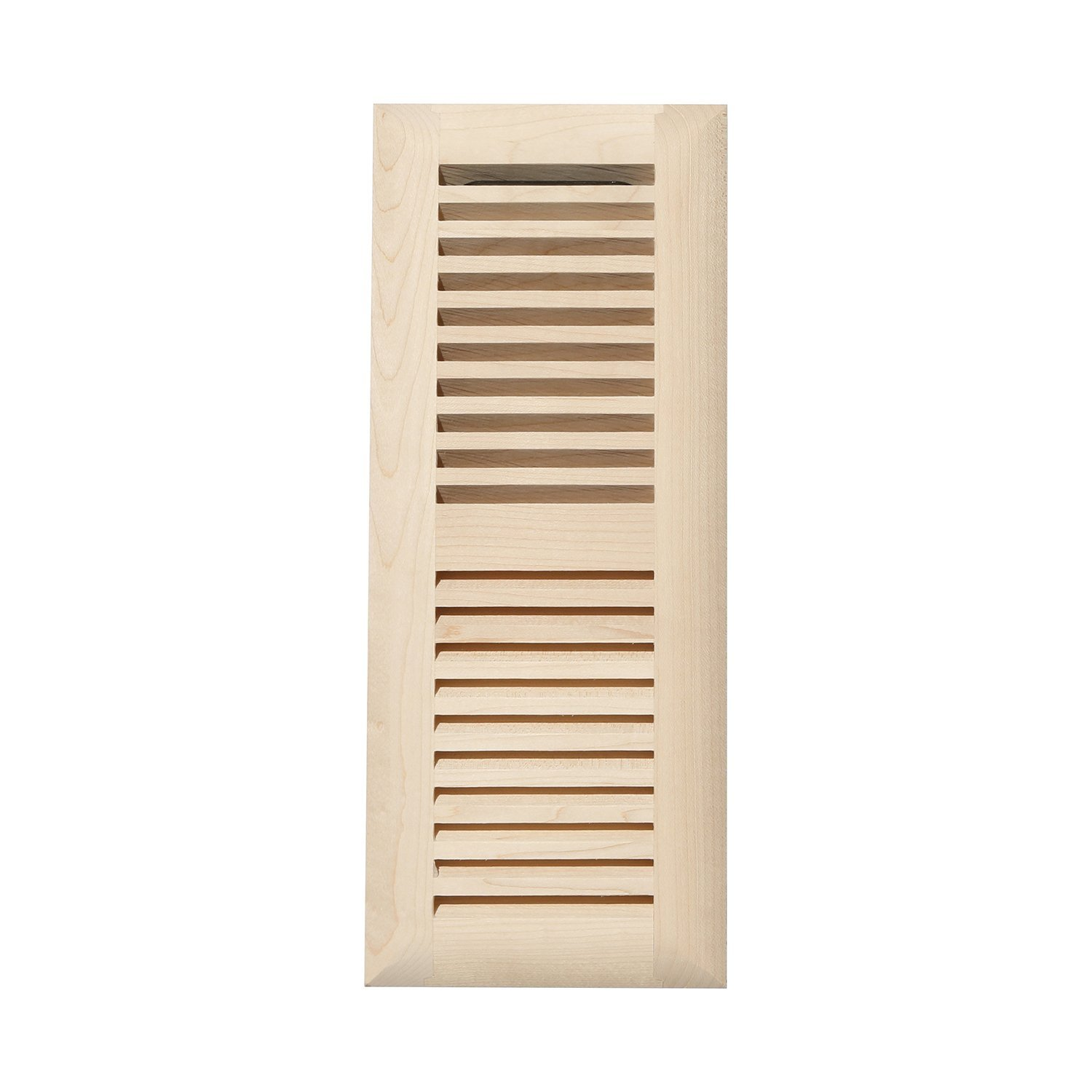 Unfinished Maple Decor Grates WMLF412-U 4-Inch by 12-Inch Wood Flushmount Floor Register