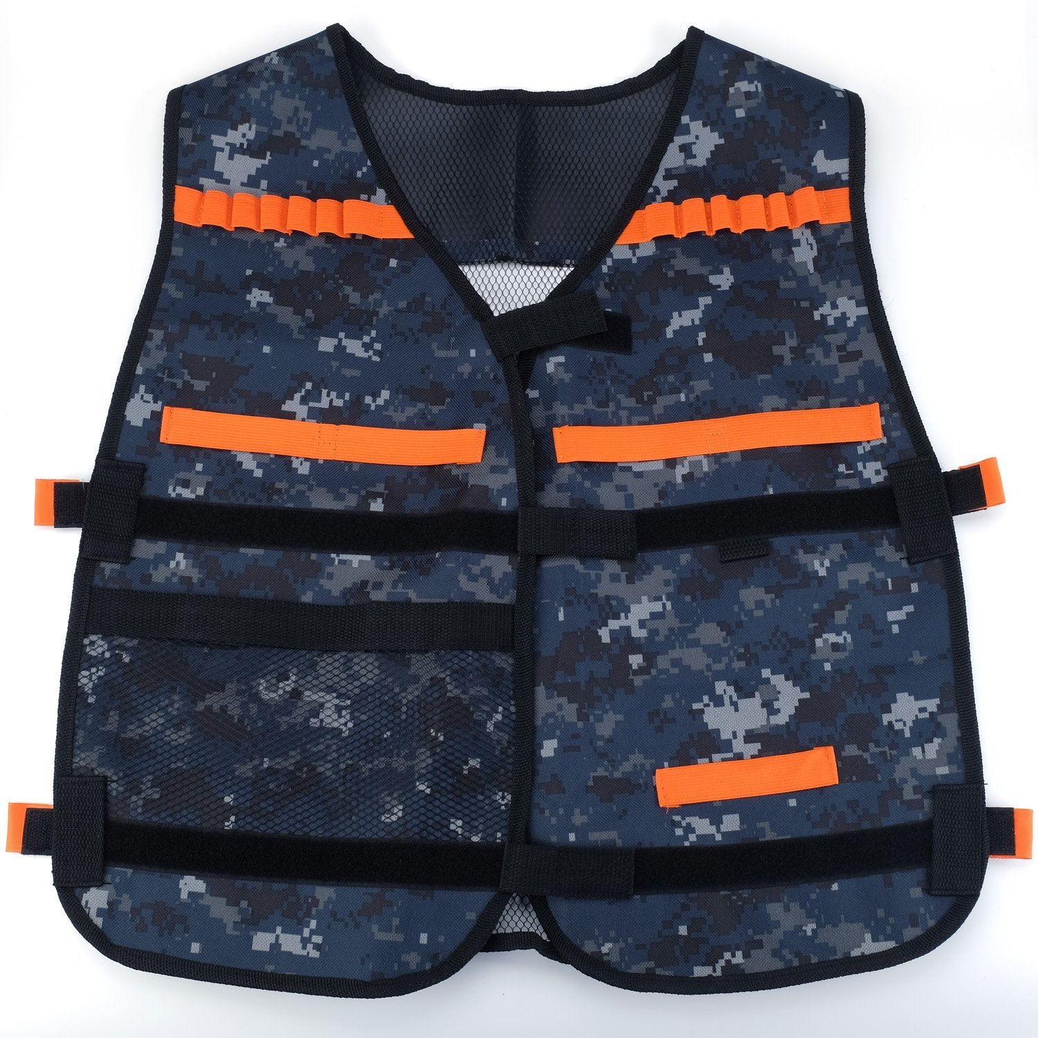 Guolong Adjustable Elite Tactical Vest With Storage Pocket For Nerf N-strike Elite Series Blasters Kid Toy Play And Other Outdoor Activities-Thicker Version