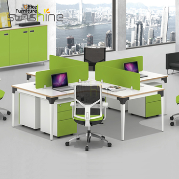 Modern Small Office Cubicles For 4 Person