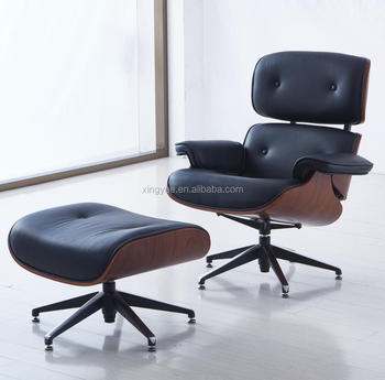 Modern Furniture Genuine Leather Home Lounge Chair Ottoman Pony Skin Designer Charles Luxury With Chairs R
