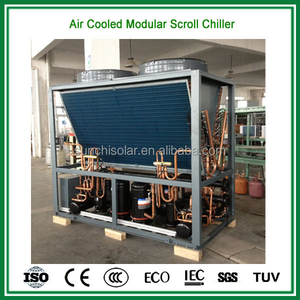Ceiling type air cooled packaged water chillers for heating&cooling