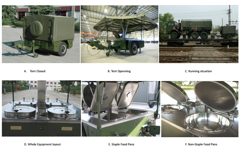 mobile field water Purifier trailer Military Water Purification Mobile kitchen trailer