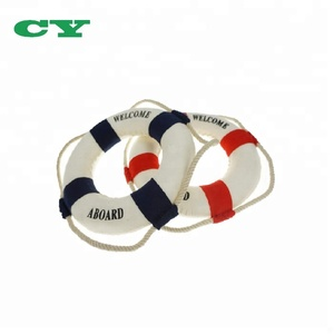 2PCS Welcome Cloth Decorative Life Ring Buoy Home Wall Nautical Decor