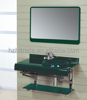 Hot sell chinese wall hung cheap bathroom sinks glass for Cheap toilet and sink set