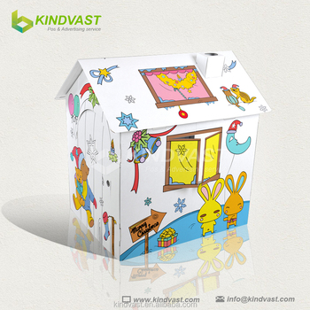 Fascinating Cardboard Toy House Cardboard Craft House For Children