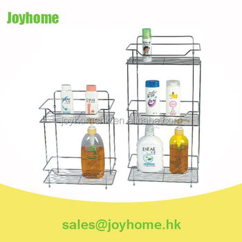 metal wire square bathroom shampoo rack