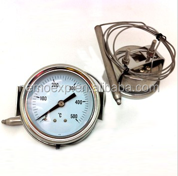 "Wika Type Pressure Temperature Gauge With ""U"" clamp"