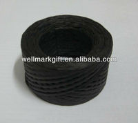 Black Paper Raffia Ribbon Cord Rope Spool