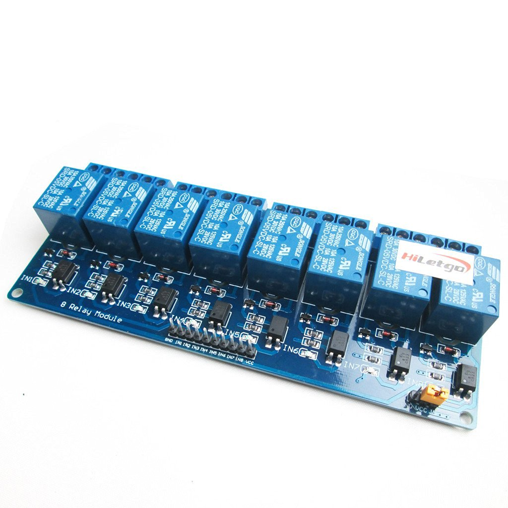 HiLetgo 5V 8 Channel Relay Module with OPTO-Isolated PLC Relay Control Panel
