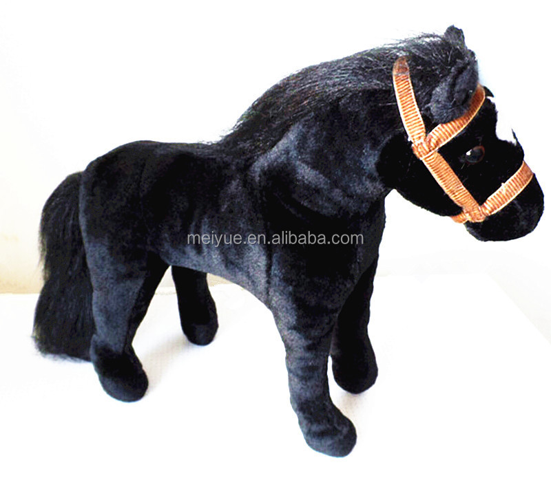 Standing Black Horse Stuffed Lifelike Fine Soft Toy Horse Buy