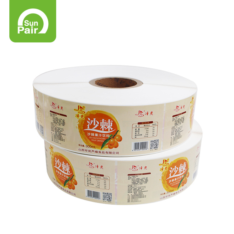 Customized Service Self-Adhesive Paper Roll Label Printing Sticker Label